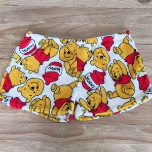 Winnie the pooh Soft Plush pajama shorts Large
